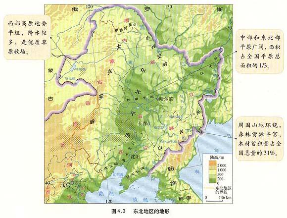 中国面积最大的四个平原
