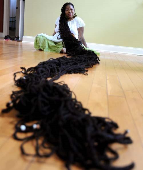 世界上最长的头发