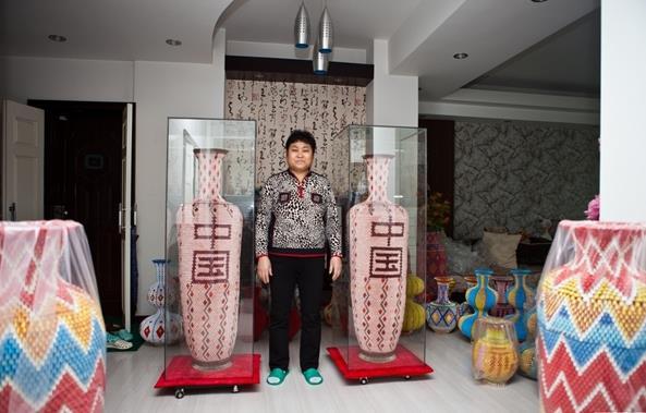 世界上最高的折纸花瓶