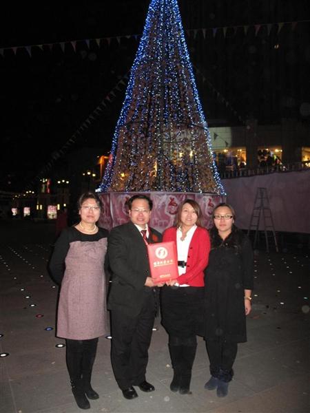 世界上最高的甜甜圈圣诞树