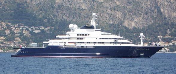 全球最大游艇之一八爪鱼号