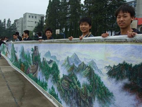 世界上最长的丝彩画
