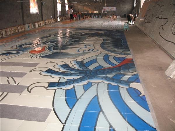 世界上最长的陶瓷壁画