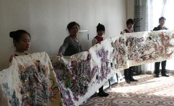 世界上最长的丝绵彩画