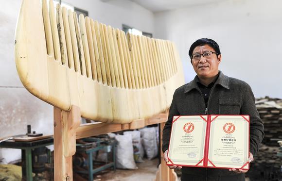 世界上最大的黄杨木梳