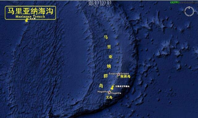 世界上最深的海沟:马里亚纳海沟(-11034米)