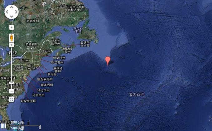 泰坦尼克号沉船位置