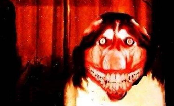 微笑狗恐怖图片