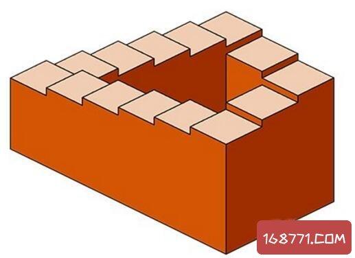 彭罗斯阶梯真实存在吗,只存在二维世界的无尽阶梯