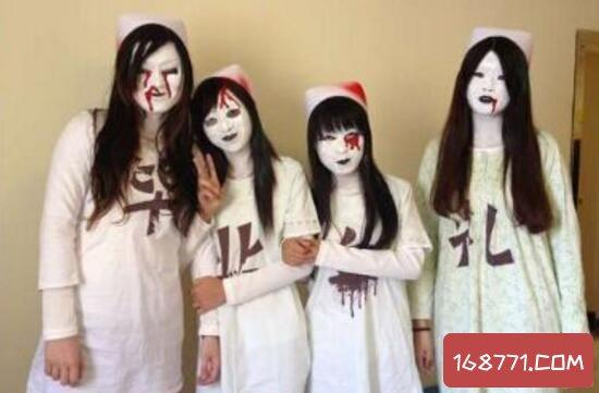 地铁惊现4名血护士,惨白脸蛋嘴角渗血吓哭小孩