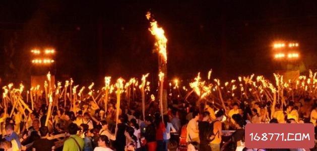 彝族火把节,被称为东方的情人节和狂欢节