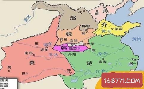 战国地图古今对照 战国七雄都是哪七国