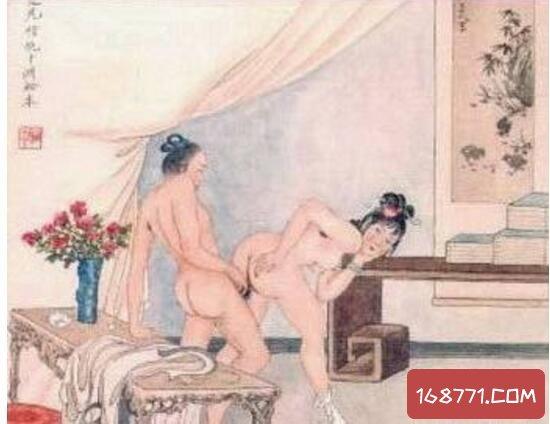 唐朝春宵秘戏图,描绘唐玄宗和杨贵妃亲密接触