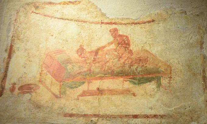 庞贝古城图片:壁画