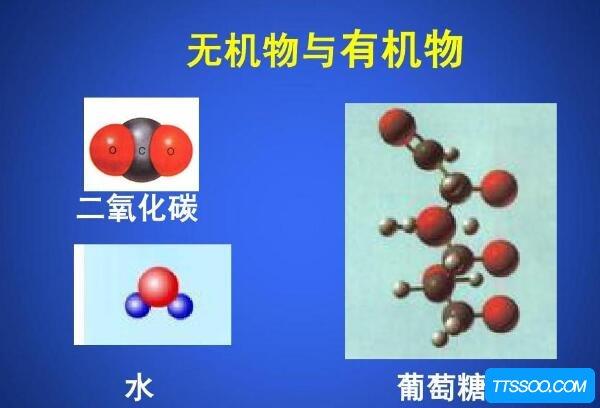 有机物和无机物的区别,有机物含碳元素(无机物不含碳元素)