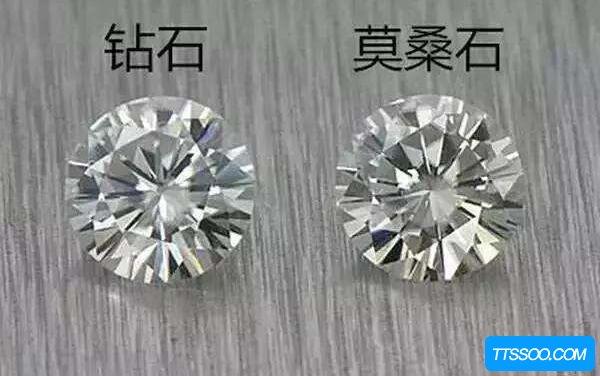 莫桑钻和钻石的区别,莫桑钻人工价格低(钻石天然价格贵)